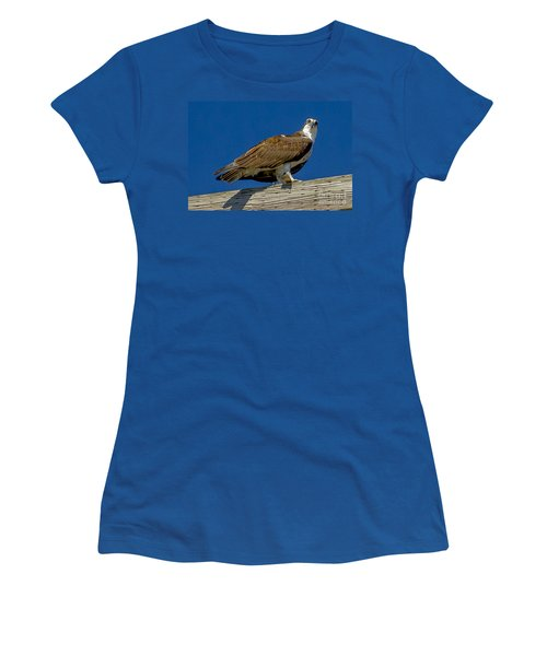 Women's T-Shirt (Junior Cut) featuring the photograph Osprey With Fish In Talons by Dale Powell