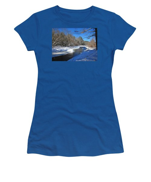 Otter Brook In Winter Women's T-Shirt