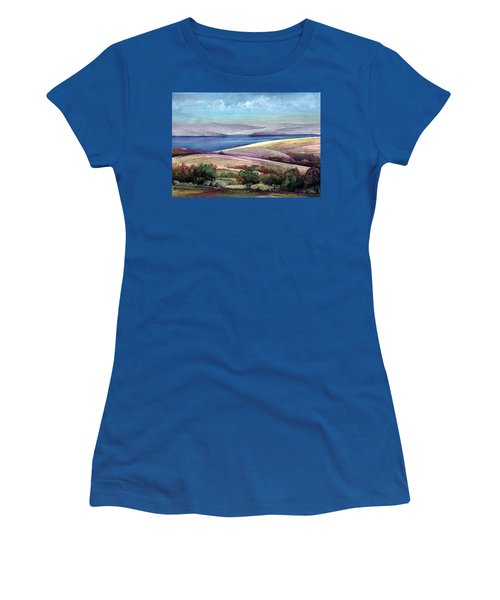 Women's T-Shirt (Junior Cut) featuring the painting Palestine View by Mikhail Savchenko