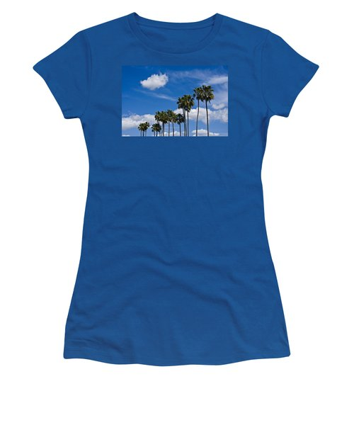 Palm Trees In San Diego California No. 1661 Women's T-Shirt