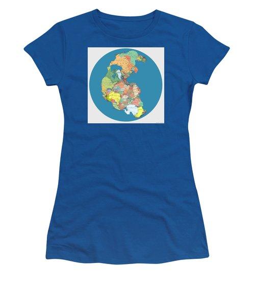 Pangaea Politica By Massimo Pietrobon Women's T-Shirt (Athletic Fit)