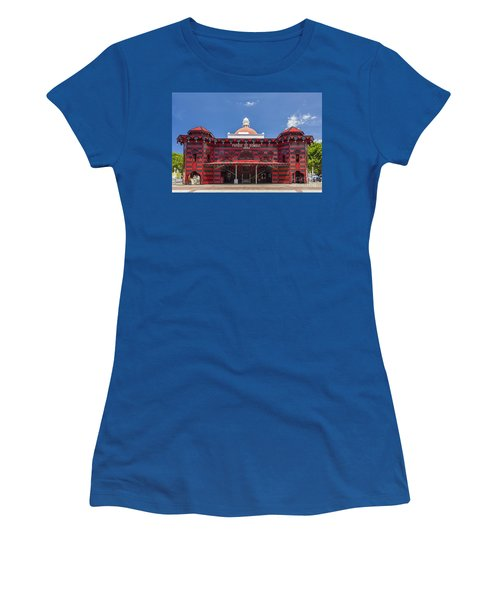 Women's T-Shirt featuring the photograph Parque De Bombas Fire Station In Ponce Puerto Rico by Bryan Mullennix