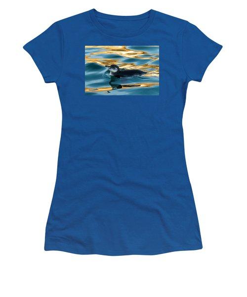 Penguin Watercolor 2 Women's T-Shirt (Athletic Fit)