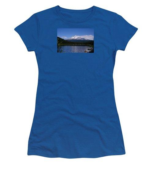 Perfect Day At Trillium Lake Women's T-Shirt (Junior Cut) by Ian Donley