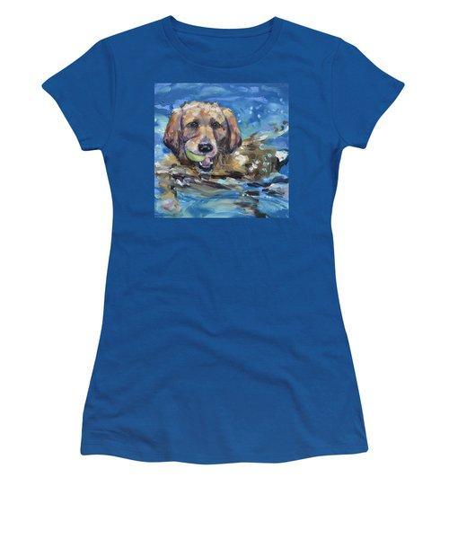 Playful Retriever Women's T-Shirt