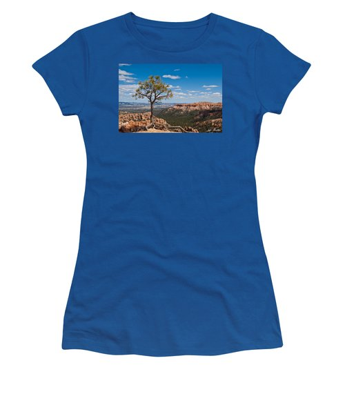 Ponderosa Pine Tree Clinging To Life On Canyon Rim Women's T-Shirt (Junior Cut) by Jeff Goulden
