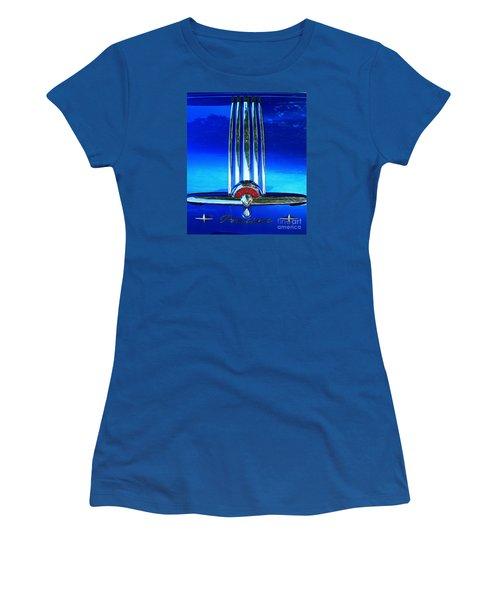 Women's T-Shirt (Junior Cut) featuring the photograph Pontiac Eight by Linda Bianic