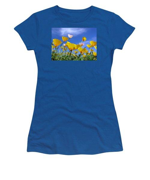 Poppies And Blue Arizona Sky Women's T-Shirt