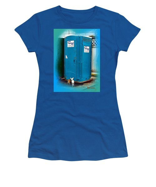 Porta Puppy Potty... Women's T-Shirt (Junior Cut) by Sadie Reneau