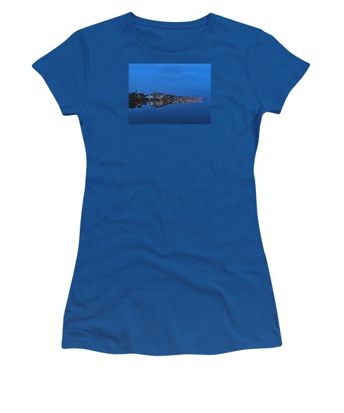 Promenade In Blue  Women's T-Shirt (Junior Cut) by Spikey Mouse Photography