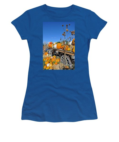 Pumpkin Farm Women's T-Shirt (Athletic Fit)