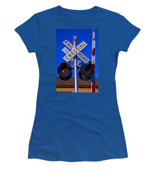 Railroad Crossing Women's T-Shirt