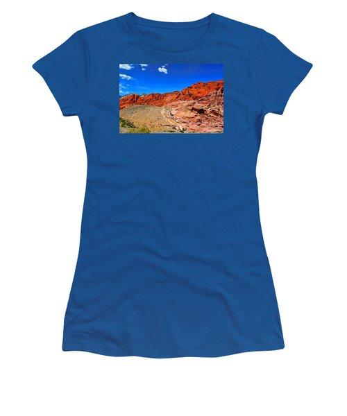 Red Rock Canyon Women's T-Shirt (Junior Cut) by Mariola Bitner