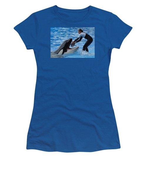Women's T-Shirt (Junior Cut) featuring the photograph Reward by David Nicholls