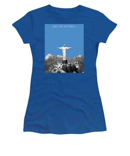 Rio De Janeiro Skyline Christ The Redeemer - Slate Women's T-Shirt
