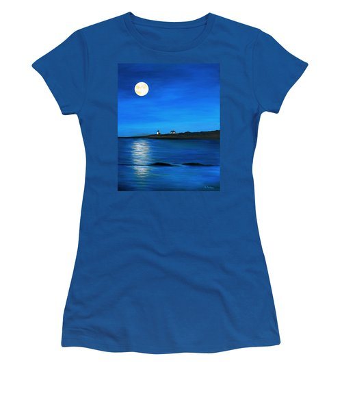 Rockport Harvest Moon Women's T-Shirt (Junior Cut) by Eileen Patten Oliver