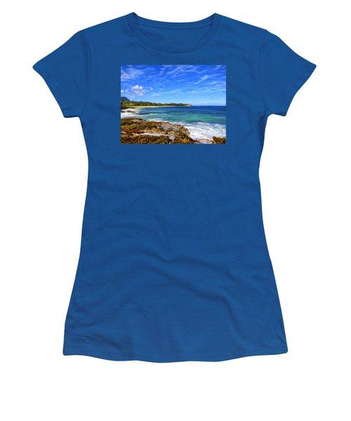 Rocky Shore Near Poipu Women's T-Shirt