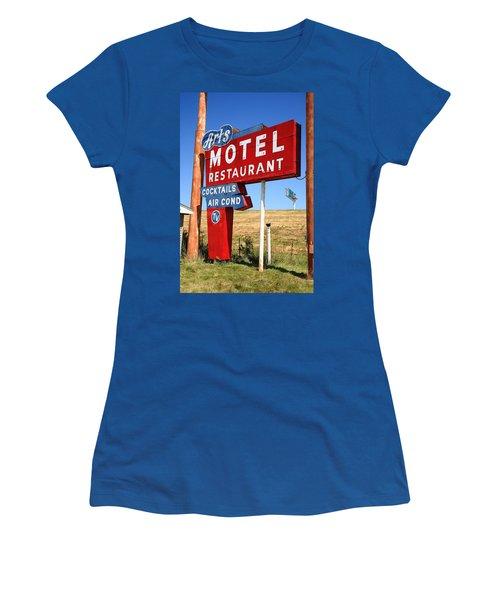 Route 66 - Art's Motel Women's T-Shirt (Athletic Fit)