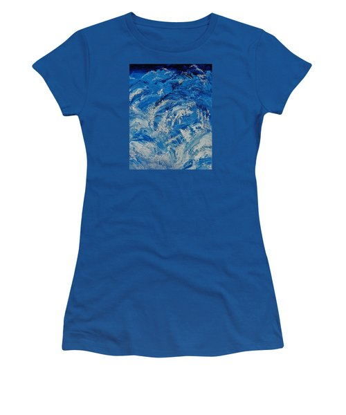 Women's T-Shirt (Junior Cut) featuring the painting Rush by Katherine Young-Beck