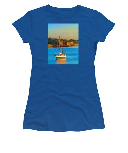 Da147 Sailboat By Daniel Adams Women's T-Shirt (Athletic Fit)