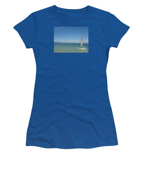 Women's T-Shirt (Junior Cut) featuring the photograph Sailing  At Key Largo by Christiane Schulze Art And Photography