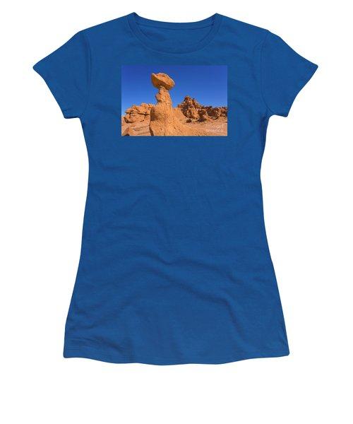 Sandstone Hoodoos In Goblin Valley  Women's T-Shirt