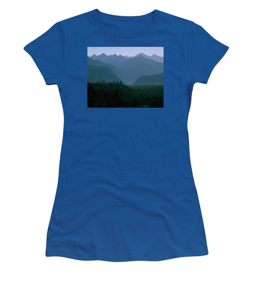 Sawtooth Mountains Silhouette Women's T-Shirt