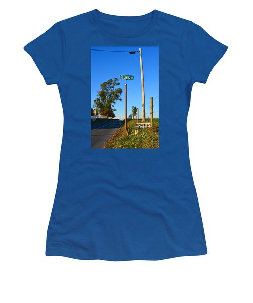 Scenic Road With Brown Eggs 3rd Lane Women's T-Shirt