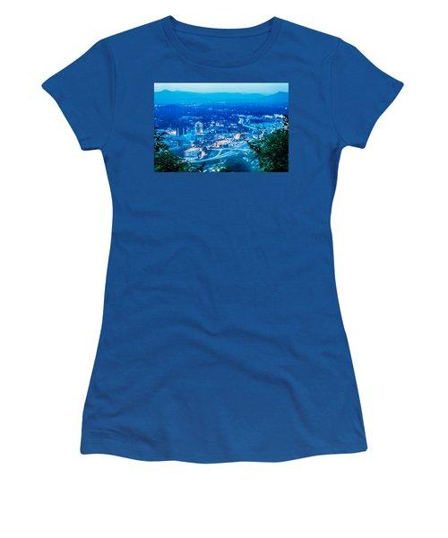 Women's T-Shirt featuring the photograph Scenics Around Mill Mountain Roanoke Virginia Usa by Alex Grichenko