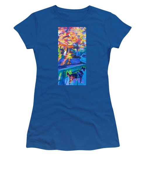 Women's T-Shirt featuring the painting Scout In The Morning by Bonnie Lambert