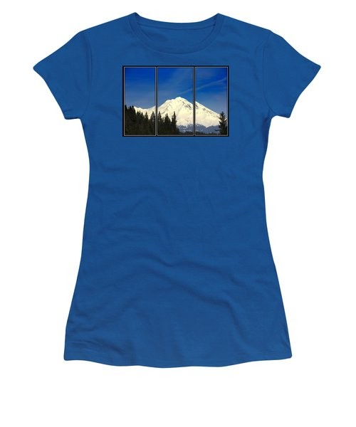 Women's T-Shirt (Junior Cut) featuring the photograph Shasta by Athala Carole Bruckner