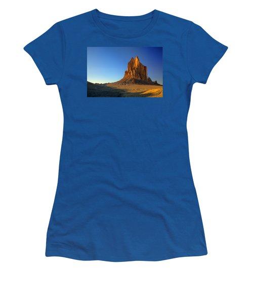 Shiprock Sunset Women's T-Shirt (Junior Cut) by Alan Vance Ley