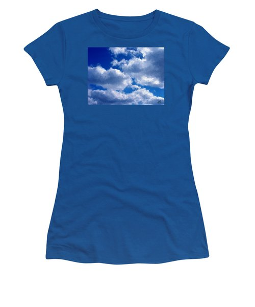 Shredded Clouds Women's T-Shirt (Junior Cut) by Bruce Nutting