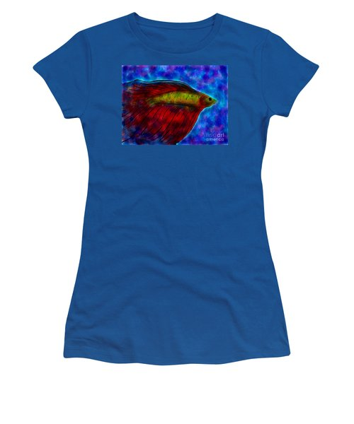 Siamese Fighting Fish II Women's T-Shirt (Junior Cut) by Anita Lewis