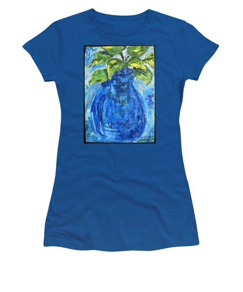 Simple Greens Women's T-Shirt (Junior Cut) by Reina Resto