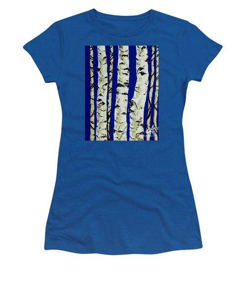 Sleeping Giants Women's T-Shirt (Junior Cut) by Jackie Carpenter