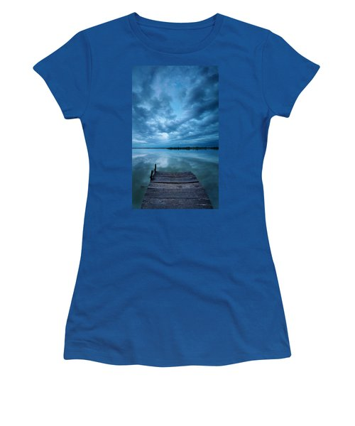 Solitary Pier Women's T-Shirt (Junior Cut) by Davorin Mance