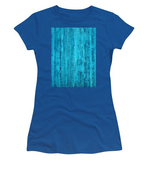 Some Call It Rain Original Painting Women's T-Shirt (Junior Cut) by Sol Luckman