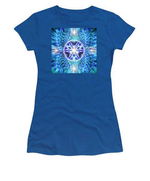 Women's T-Shirt (Junior Cut) featuring the drawing Spiral Compassion by Derek Gedney