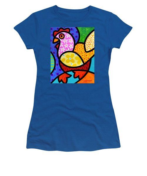 Spring Chicken Women's T-Shirt (Athletic Fit)