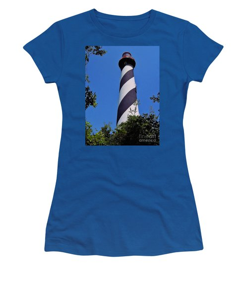 St Augustine Lighthouse Women's T-Shirt (Junior Cut) by D Hackett