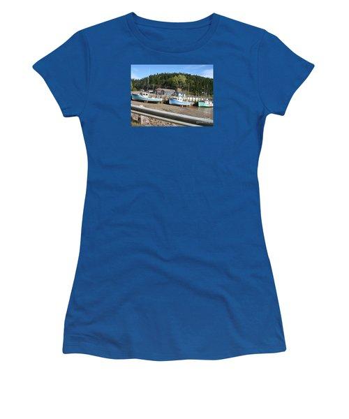 St-martin's Fishing Fleet Women's T-Shirt (Junior Cut) by Francine Heykoop