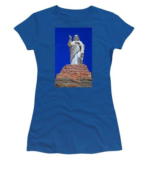 Statue Of Jesus Women's T-Shirt (Athletic Fit)