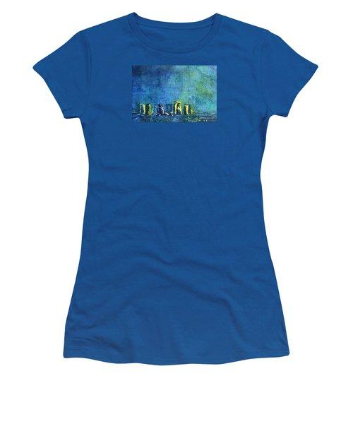 Stonehenge In Moonlight Women's T-Shirt (Junior Cut) by Ryan Fox