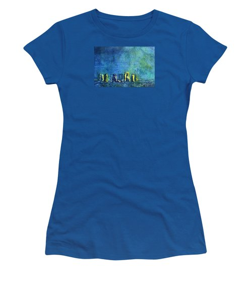 Stonehenge In Moonlight Women's T-Shirt (Athletic Fit)