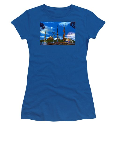 Strange Planet Women's T-Shirt (Junior Cut) by Mark Blauhoefer