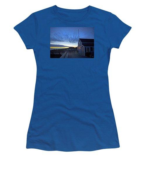 Sunrise At Barnstable Yacht Club Women's T-Shirt