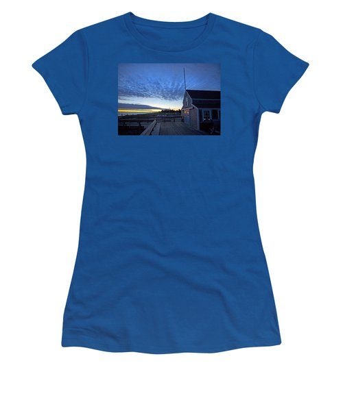 Sunrise At Barnstable Yacht Club Women's T-Shirt