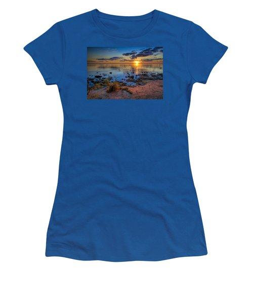Sunrise Over Lake Michigan Women's T-Shirt (Athletic Fit)