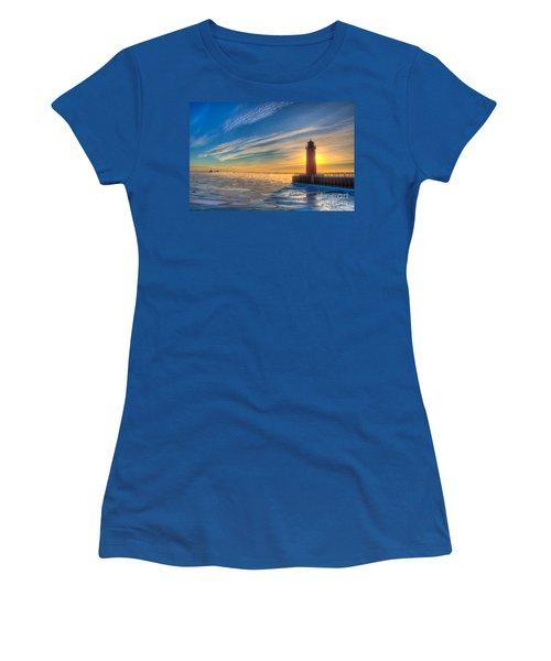 Sunrise Pierhead Women's T-Shirt (Athletic Fit)